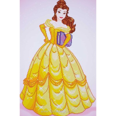 Kit broderie diamant disney belle - walt disney de Vervaco