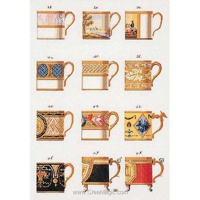 Broderie en point compté les mugs sur lin - Thea Gouverneur