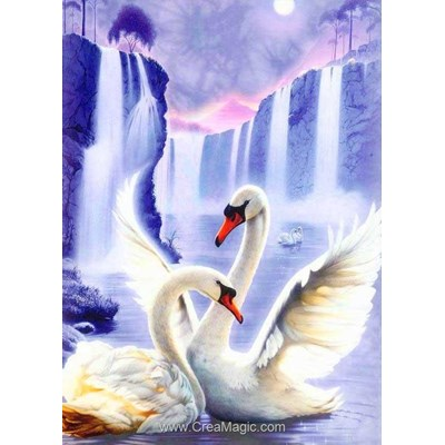 Broderie diamant swan pair de Diamond Painting