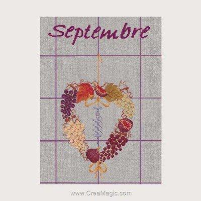Torchon à broder septembre - 09 Le Bonheur Des Dames