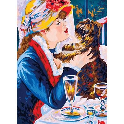 La femme au petit chiot canevas chez Collection d'art