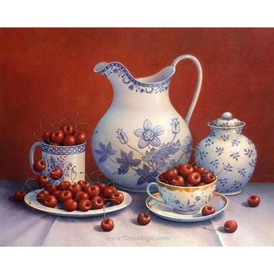 Broderie diamant cherry still life - Diamond Painting
