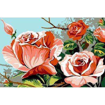 Canevas SEG buisson de roses