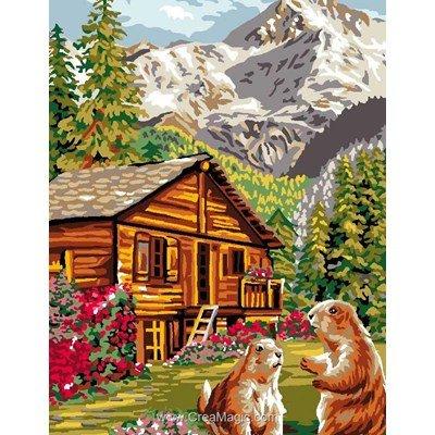 Luc Création canevas chalet des marmottes