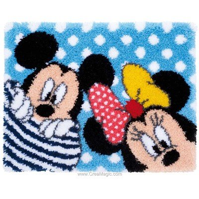 Tapis point noue Vervaco minnie et mikey - disney land