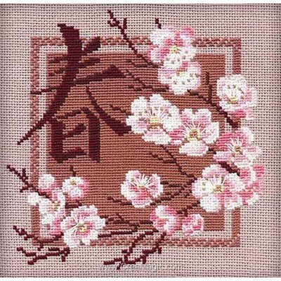 Printemps chinois broderie modele point de croix - RIOLIS