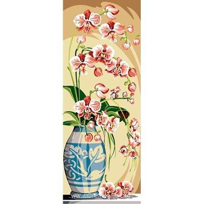 Canevas vase d'orchidées roses de SEG