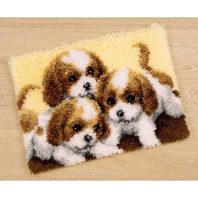 Tapis point noué Vervaco 3 chiots