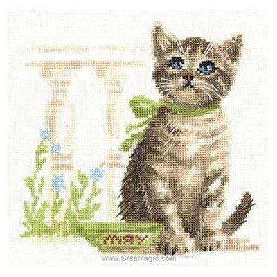Kit à broder RIOLIS l'attente du chaton