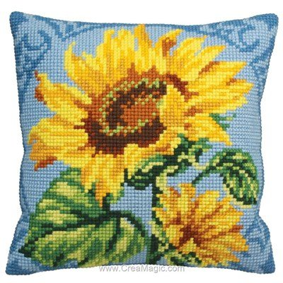 Kit coussin tounesol au zénith au point de croix - Collection d'art