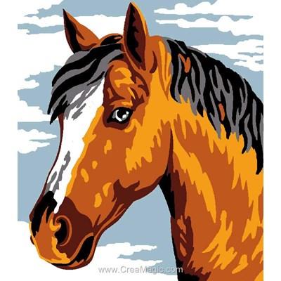 Amour de cheval kit canevas Luc Création pour enfant