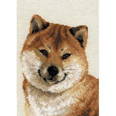 Point de croix compté husky japonais - RIOLIS
