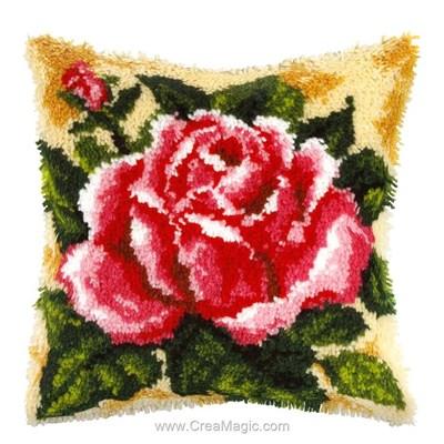 Kit coussin point noue au coeur de rose - Orchidea