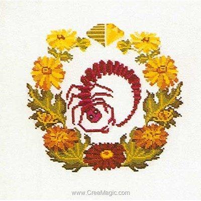 Broderie Thea Gouverneur scorpion sur lin