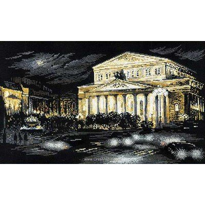 Broderie point de croix bolshoi theatre de RIOLIS