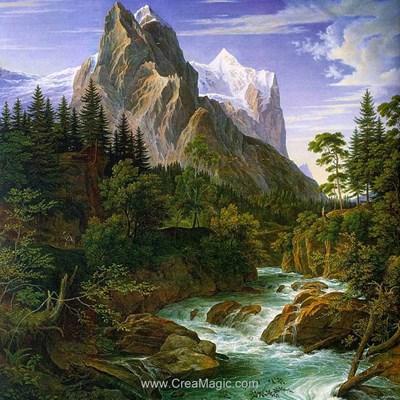 Broderie diamant le torrent de la rivière - Diamond Painting