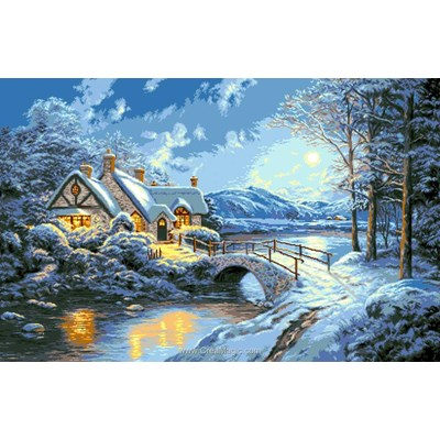 Broderie diamant winter night de Diamond Painting