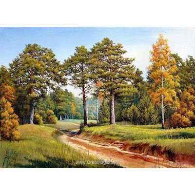 Broderie diamant autumn pines de Diamond Painting