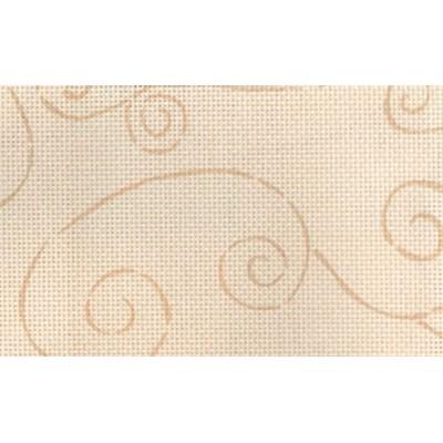 Toile aida 5,5 arabesque beige 2 imprimée - DMC