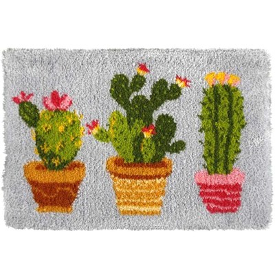 Kit tapis point noué les cactus d'Orchidea