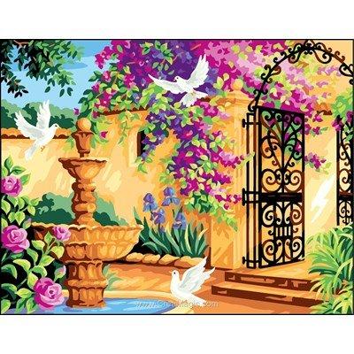 Royal Paris canevas le patio fleuri