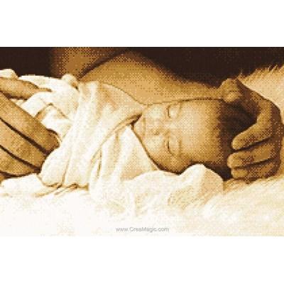 Le point de croix Marie Coeur protection d'un père