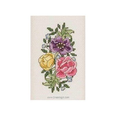 Broderie flowers color - Permin