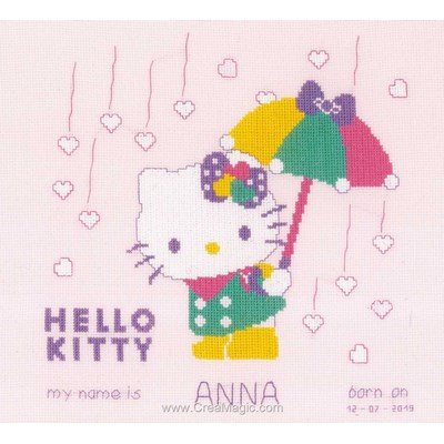 Hello kitty pastel kit broderie baby naissance - Vervaco