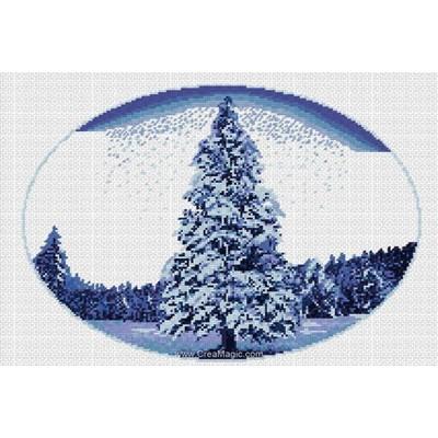 Kit Luc Création à broder paysage d'hiver