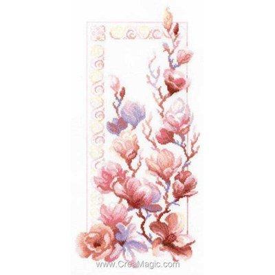 Kit broderie magnolias pastels de RIOLIS