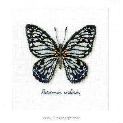 Beau papillon bleu kit à broder au point de croix - Vervaco