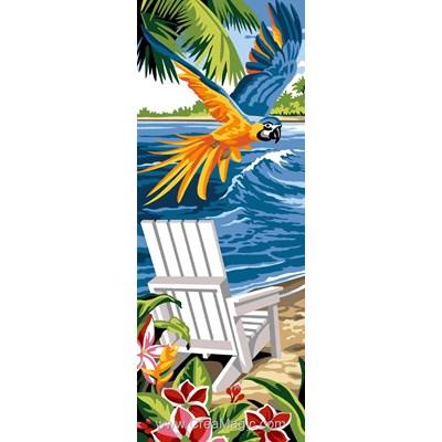 Canevas vol de perroquet exotique - SEG