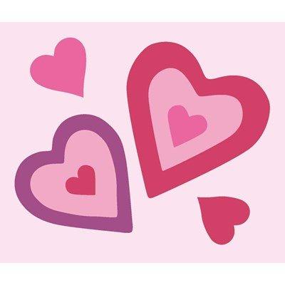 Les coeurs roses kit canevas DMC pour enfants