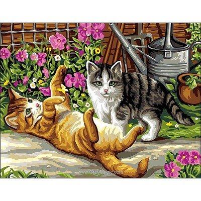 Rafael Angelot canevas les chats petits fripons