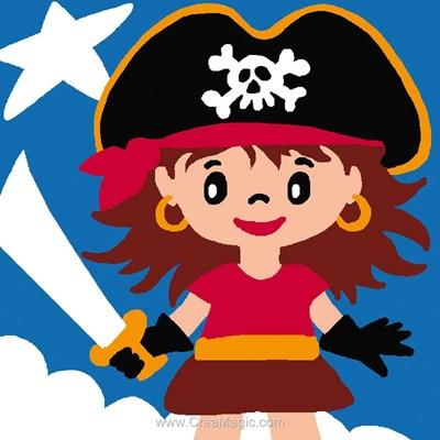 Petite pirate kit canevas pour débutant - Luc Création