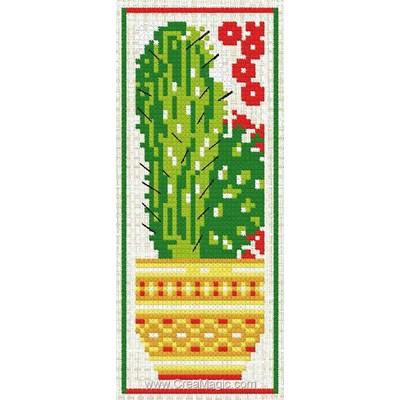 Marque page à broder cactus Luc Création