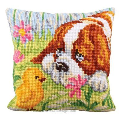 Kit coussin point de croix rencontre de Collection d'art