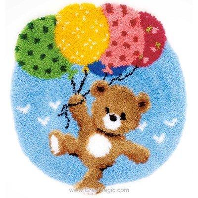 Tapis point noue ourson avec ballons - Vervaco