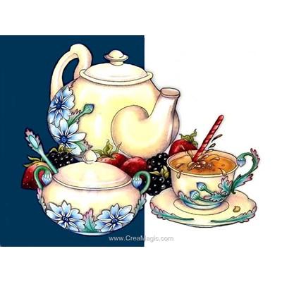 Broderie diamant tea composition de Diamond Painting