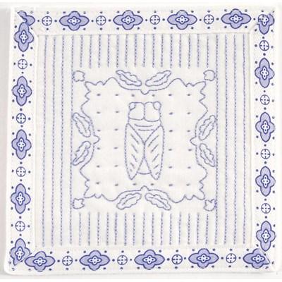 Broderie imprimée en kit le boutis de la cigale - provence de DMC