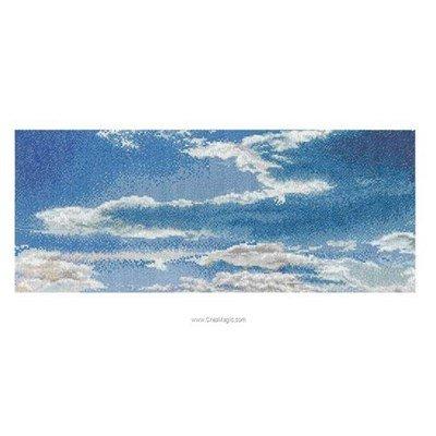 Ciel azur sur aida point de croix - Thea Gouverneur