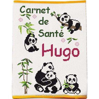 Kit protège carnet de santé pour enfant à broder pandas Princesse
