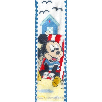 Marque pages disney-mikey à broder - Vervaco