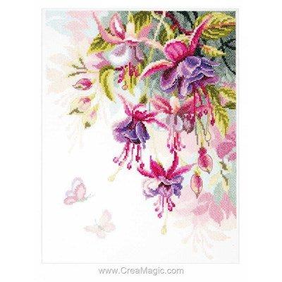 Point de croix compté fleur fuchsias - Vervaco