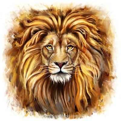 Broderie diamant lion de Diamond Painting