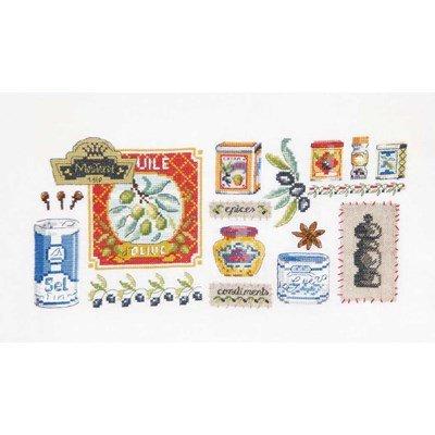 Kit DMC à broder au point croix les condiments et les épices édition limitée