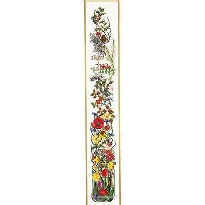 Modèle Thea Gouverneur au point de croix seasons bell pull sur aida