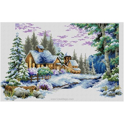 Broderie diamant winter landscape de Diamond Painting