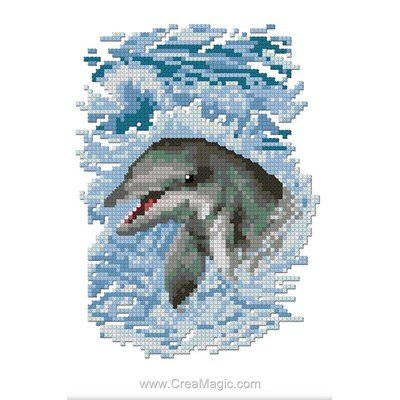Broderie dauphins creamagic - Grille point de croix mer ...