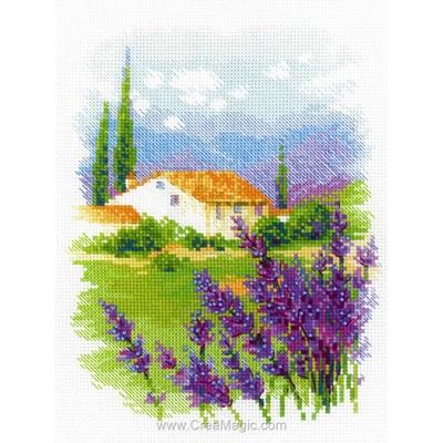 Kit broderie point de croix ferme de provence - RIOLIS